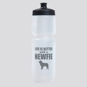 Life Is Better With A Newfie Sports Bottle