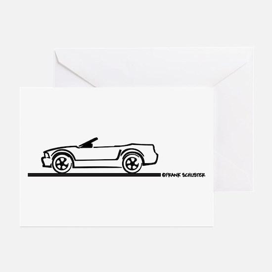 2005-2010 Mustang Convertible Greeting Cards (Pk o