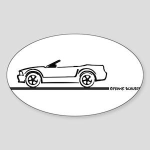 2005-2010 Mustang Convertible Oval Sticker (10 pk)