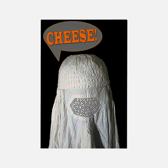 Say Cheese (person in Burqa) Rectangle Magnet