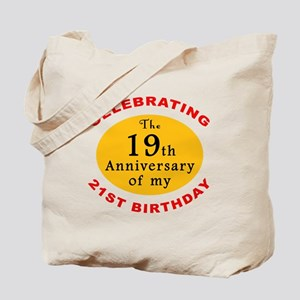 Celebrating 40th Birthday Tote Bag