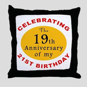 Celebrating 40th Birthday Throw Pillow