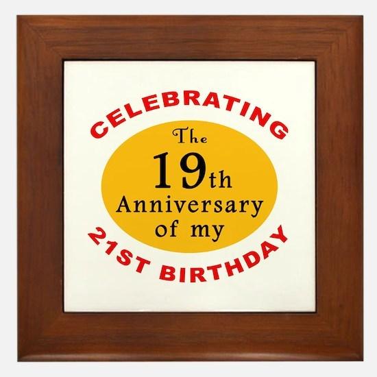 Celebrating 40th Birthday Framed Tile