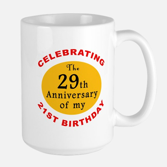 Celebrating 50th Birthday Large Mug