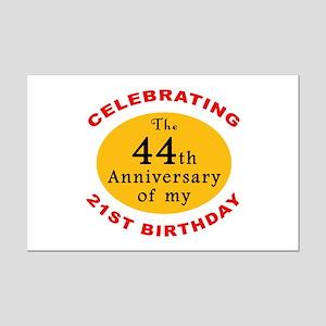 Celebrating 65th Birthday Mini Poster Print