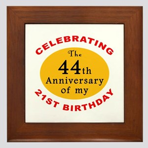Celebrating 65th Birthday Framed Tile