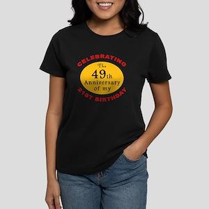 Celebrating 70th Birthday Women's Dark T-Shirt