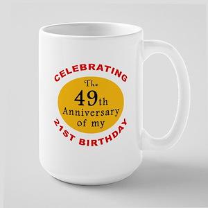 Celebrating 70th Birthday Large Mug