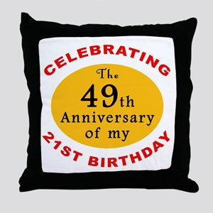 Celebrating 70th Birthday Throw Pillow