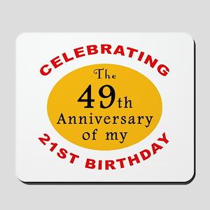 Celebrating 70th Birthday Mousepad
