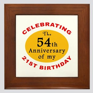 Celebrating 75th Birthday Framed Tile