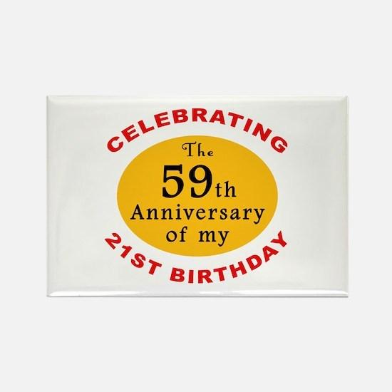 Celebrating 80th Birthday Rectangle Magnet (10 pac