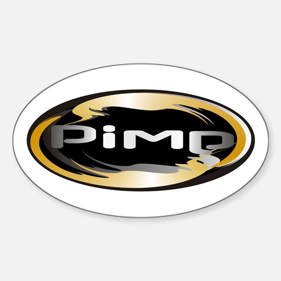 Pimp Oval Decal