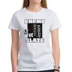 Enemy Of The Slate Women's Classic White T-Shirt