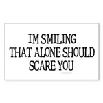 I'm smiling... Rectangle Sticker