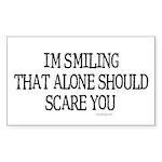 I'm smiling... Rectangle Sticker