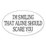 I'm smiling... Oval Sticker
