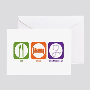 Eat Sleep Anesthesiology Greeting Cards (Package o