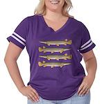 Alligator Gar Women's Plus Size Football T-Shirt