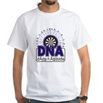 DNA: Darts N Attitude White T-Shirt