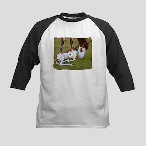 Paint Mare & Foal Kids Baseball Jersey
