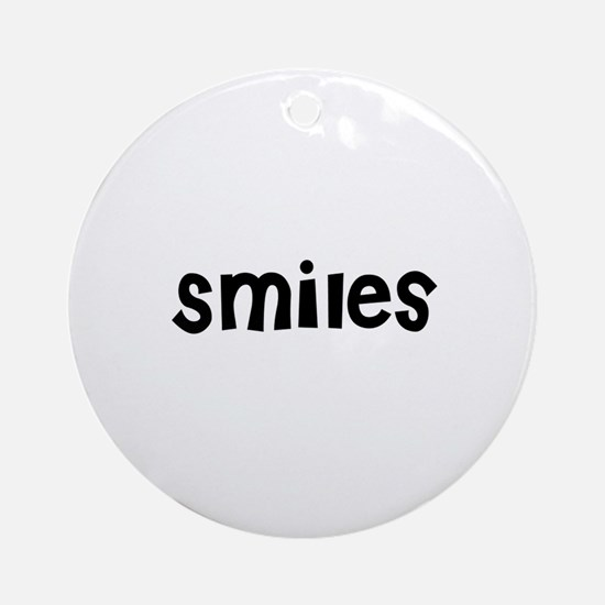 Smiles Ornament (Round)