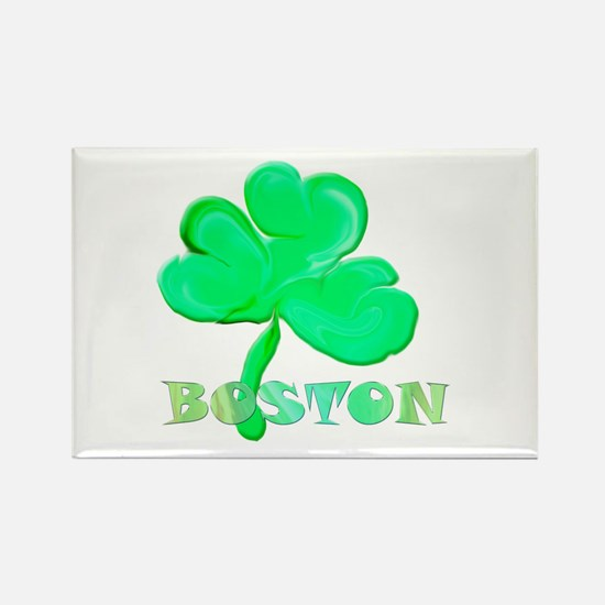 Boston Clover Rectangle Magnet