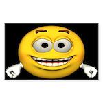 Smiley Face Rectangle Sticker 10 pk)
