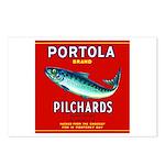 Portola Sardine Label 2 Postcards (Package of 8)