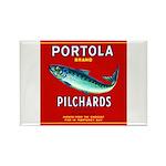 Portola Sardine Label 2 Rectangle Magnet