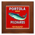 Portola Sardine Label 2 Framed Tile