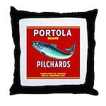 Portola Sardine Label 2 Throw Pillow