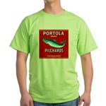 Portola Sardine Label 2 Green T-Shirt