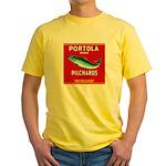 Portola Sardine Label 2 Yellow T-Shirt