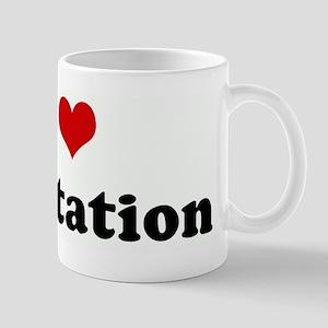 I Love meditation Mug