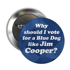 Blue Dog Jim Cooper campaign button