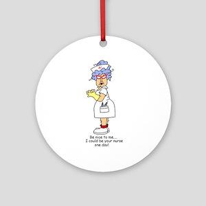Be Nice Nurse Ornament (Round)