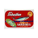 Sebastian Sardine Label Rectangle Magnet