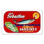 Sebastian Sardine Label Rectangle Sticker 10 pk)