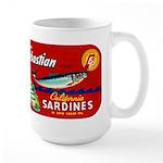 Sebastian Sardine Label Large Mug
