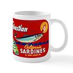 Sebastian Sardine Label Mug