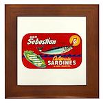 Sebastian Sardine Label Framed Tile