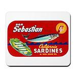 Sebastian Sardine Label Mousepad