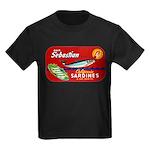 Sebastian Sardine Label Kids Dark T-Shirt