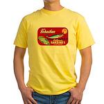 Sebastian Sardine Label Yellow T-Shirt
