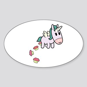 Unicorn Sweets Oval Sticker