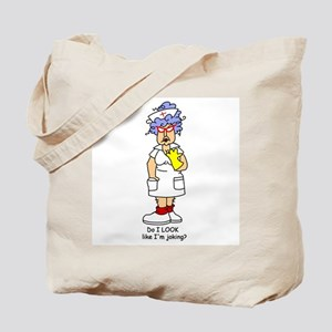 Nurse No Joking Tote Bag