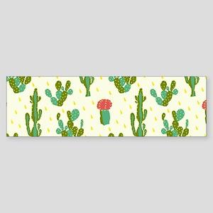 Cactus Pattern Bumper Sticker