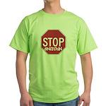 STOP SNITCHING Green T-Shirt