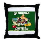 La Sirena Mermaid Sardine Lab Throw Pillow